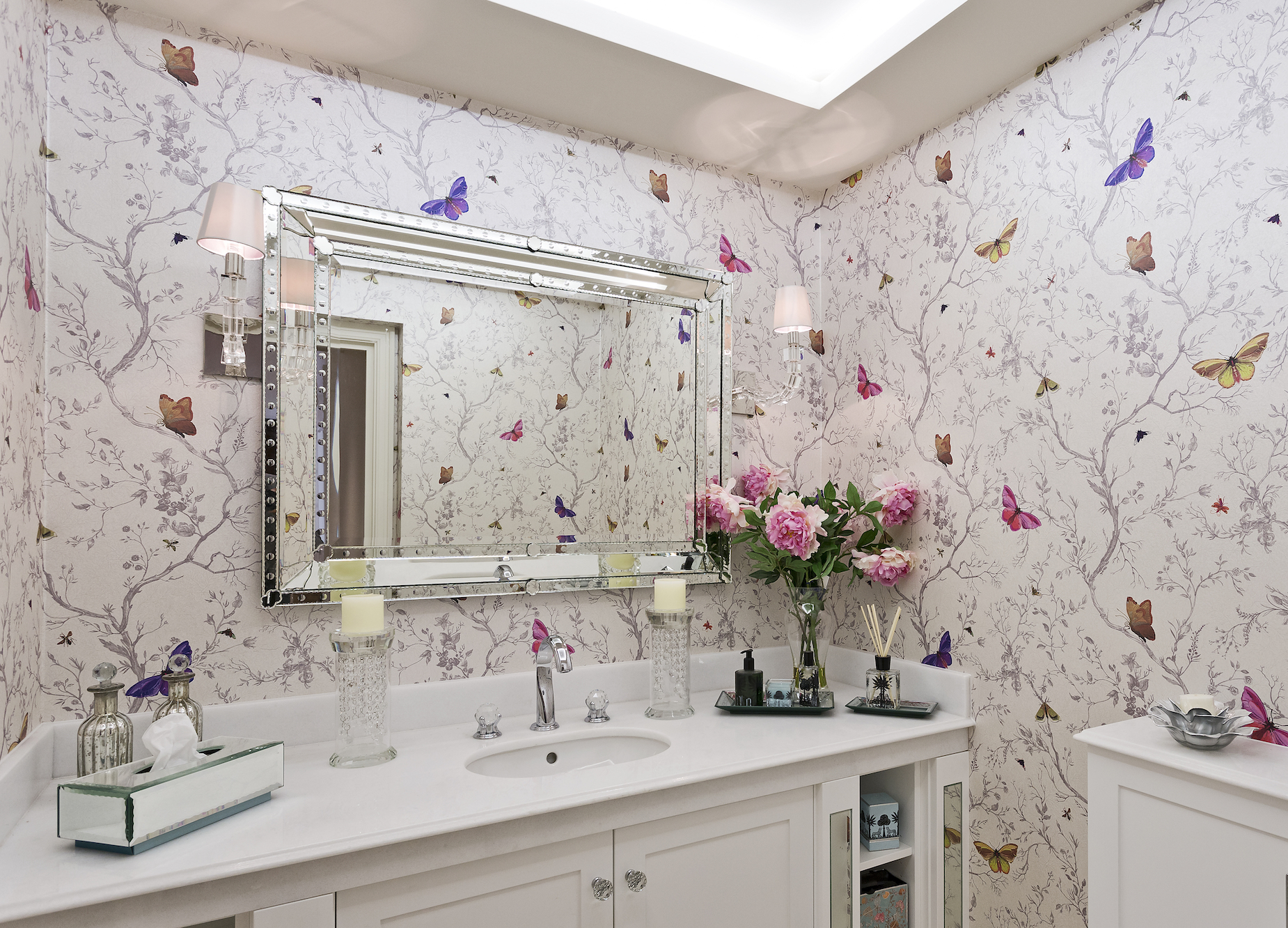 bathroom wallpaper design